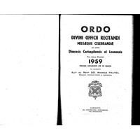 Annuaire diocésain année 1959