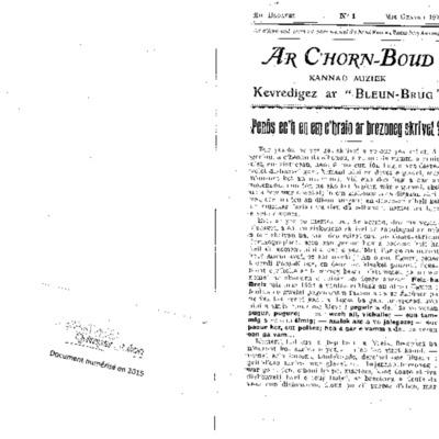 C'horn boud 1925