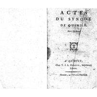 Actes du synode de Quimper