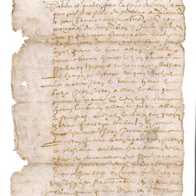 Déclaration D13 - Contrat de bail d'une maison à Michel Le Nobletz à Douarnenez, le 29 octobre 1634.
