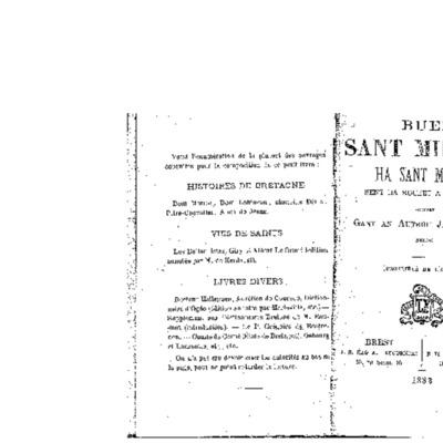 Buez sant Milliau : ha sant Moelar sent a roueet a Vrez-Izel