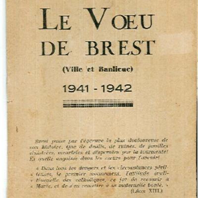 Le Voeu de Brest (ville et banlieue) 1941-1942