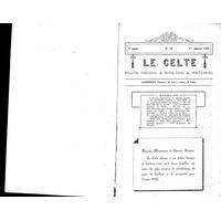 Le Celte : Bulletin Paroissial de Notre-Dame du Mont Carmel 1935