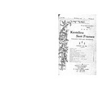 Kenteliou sant Fransez 1929