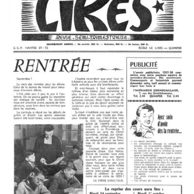Le Likès revue semi-trimestrielle 1957-1958