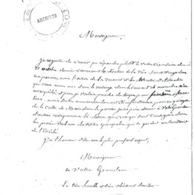Enquête diocésaine sur le culte marial de 1856 : réponse de la paroisse du Faou