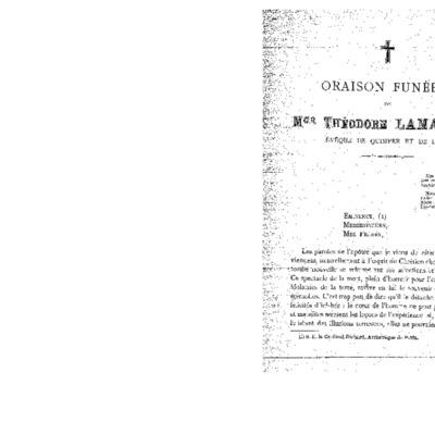 Oraison funèbre de Mgr Théodore Lamarche évêque de Quimper et de Léon