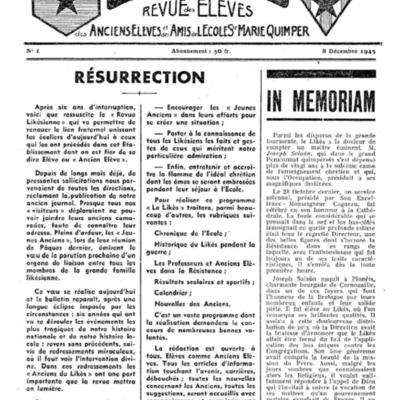 Le Likès revue des anciens élèves et des amis de l'école  Sainte-Marie Quimper 1945-1946.pdf