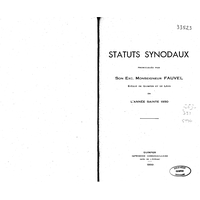 Statuts synodaux