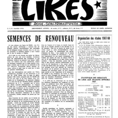 Le Likès revue semi-trimestrielle 1967-1968