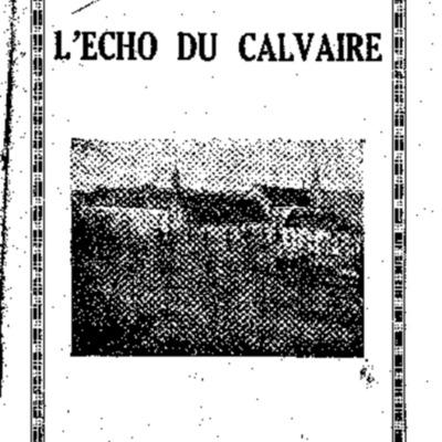 L'Echo du Calvaire : bulletin de l'Association amicale des anciens élèves du Calvaire de Landerneau 1937