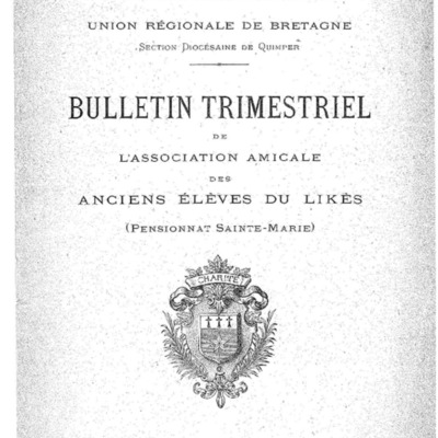 [Likès] Bulletin de l'association amicale des anciens élèves du pensionnat Sainte-Marie Likès 1928.pdf