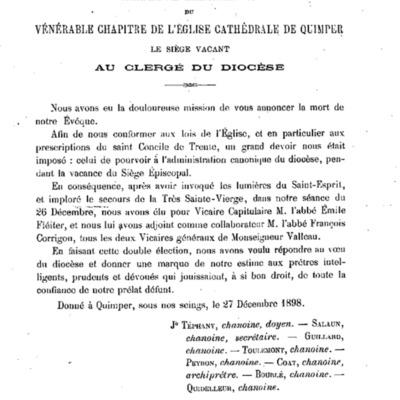 Lettres et Mandements de Mgr Dubillard