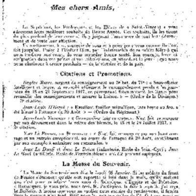Lettre aux séminaristes pendant la première guerre