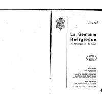 Semaine religieuse de Quimper et Léon 1967