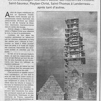 1450 On consolide les clochers du Finistère... 12.02.2000.