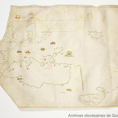 Carte peinte : Les quatre monarchies