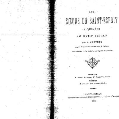 Les Soeurs du Saint-Esprit à Quimper au XVIIIe siècle