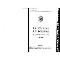 Semaine religieuse de Quimper et Léon 1964