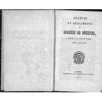 Statuts et règlements du diocèse de Quimper