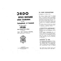 Annuaire diocésain année 1958