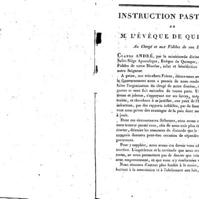 Mandements de Mgr Dombidau de Crouseilhes