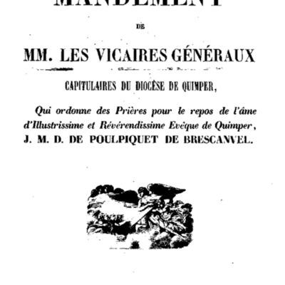 Mandements, Lettres et Circulaires de Mgr Graveran