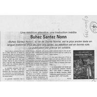 1432 Une réédition attendue, une traduction inédite, Buhez Santz Nonn... 05.06.99..jpg