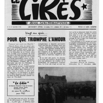 Le Likès revue semi-trimestrielle 1965