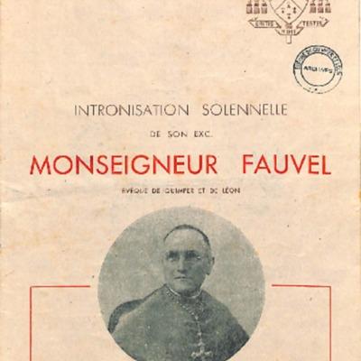 Intronisation solennelle de Mgr Fauvel à la cathédrale de Quimper