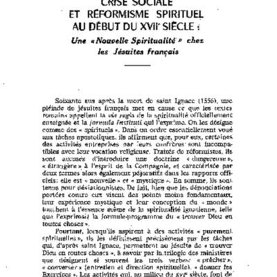 Revue ascétique mystique t. XLI-3, n°163, 1965 Crise sociale et reformisme sirituel Certeau.pdf