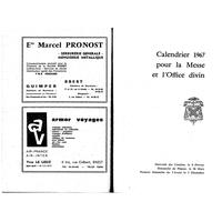 Annuaire diocésain année 1967