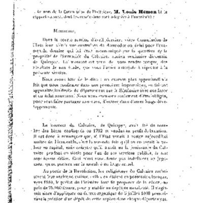 Le Séminaire de Quimper : Histoire d'une Propriété départementale