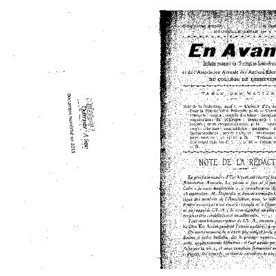 En Avant 1919-1923