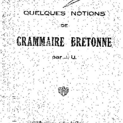 Quelques notions de grammaire bretonne par J.U.