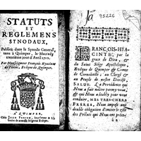 Statuts et reglemens synodaux