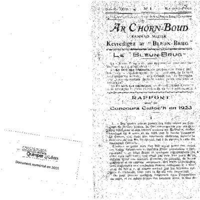 C'horn boud 1924