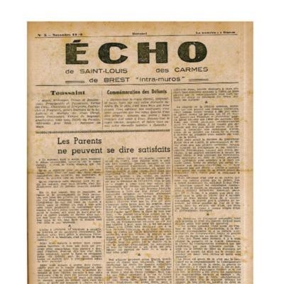 Echo Saint-Louis et Carmes 05 - novembre 1946