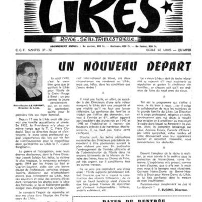 Le Likès revue semi-trimestrielle 1956-1957
