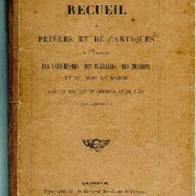Manuel de catéchisme ou recueil de cantiques : à l'usage des catéchismes, des retraites, des missions et du mois de Marie dans le diocèse de Quimper et Léon