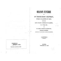Oraison funèbre de Mgr. Joseph-Marie Graveran : évêque de Quimper et Léon, prononcée dans l'Eglise cathédrale de Quimper le 1er mars 1855