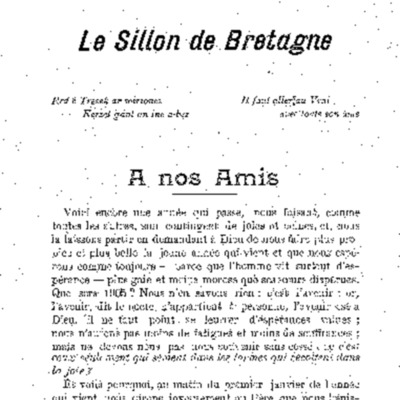 L'Ajonc organe du Sillon de Bretagne 1905