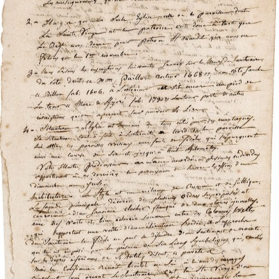 Enquête diocésaine sur le culte marial de 1856 : réponse de la paroisse du Juch