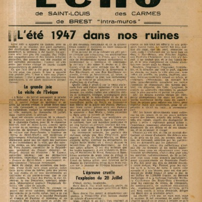 Echo Saint-Louis et Carmes 14 - septembre 1947
